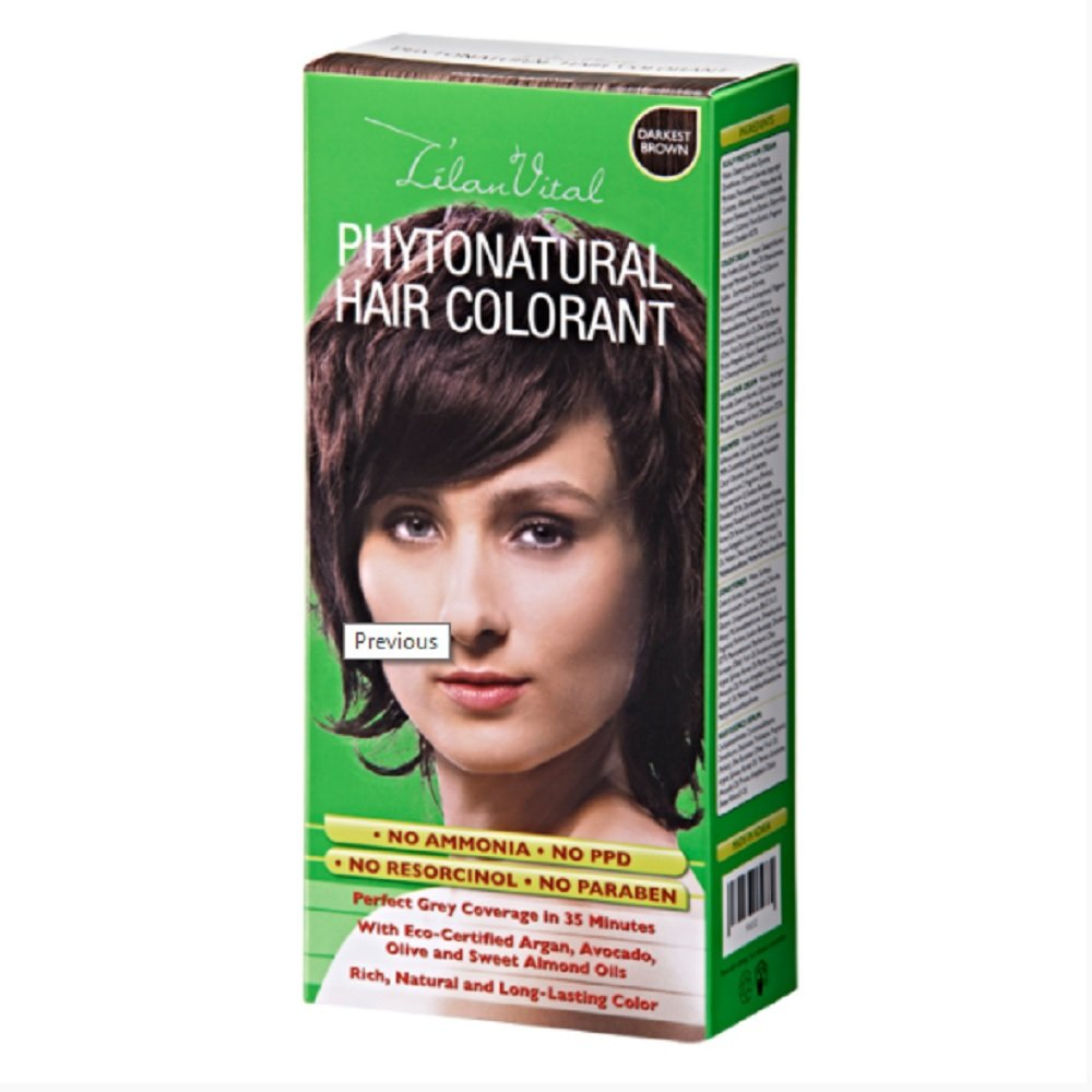3 Box Cosway L'elan Lelan Vital PhytoNatural Hair Colorant – Darkest Brown 93212