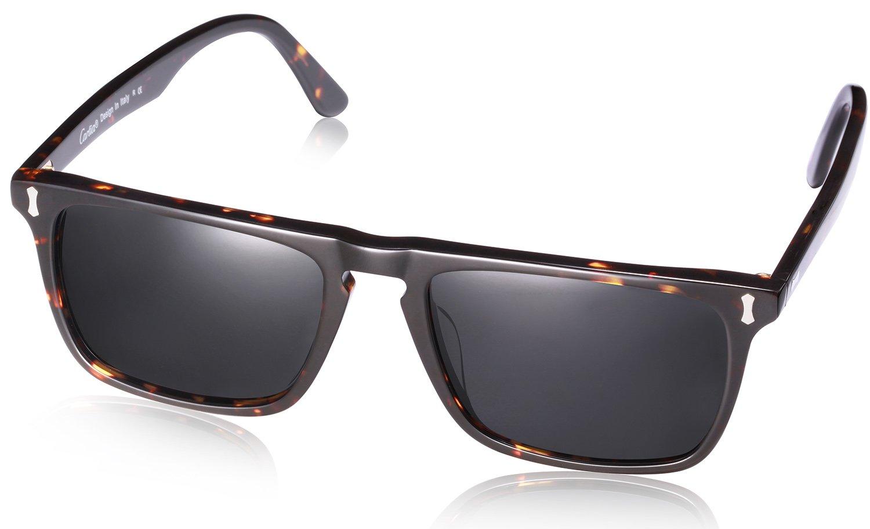 Carfia Classic Rectangular Mens Sunglasses, Polarized Sunglasses for Driving Travel CA5357
