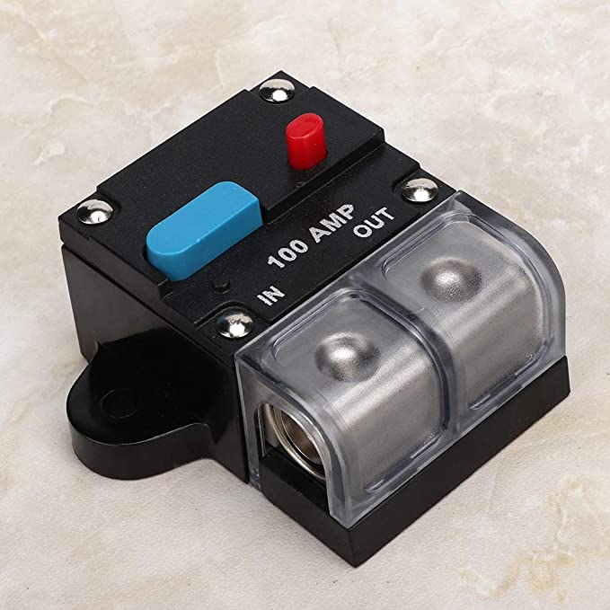 Car Circuit Breaker,80A-300A Universal Automatic Resettable Circuit Breaker Self-recovery Fuse Manual Reset Button For Cars 200A