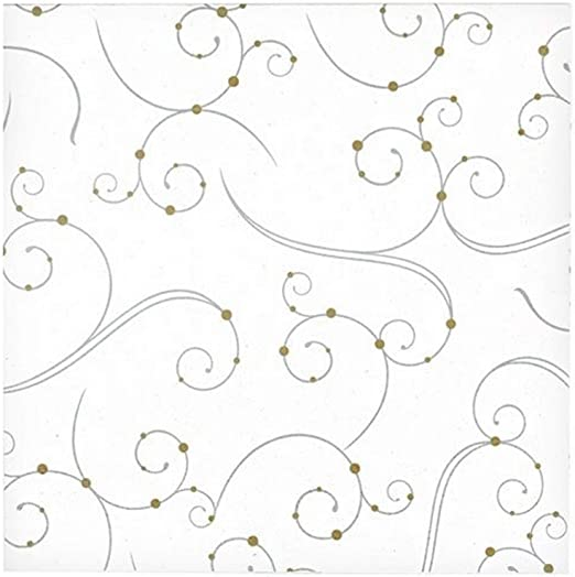 Hanna K Signature Collection 40 Count Floral Art Paper Lunch Napkin