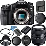 Sony Alpha a77 II DSLR Camera (Body Only) ILCA77M2 + Sony DT 16-105mm f/3.5-5.6 Lens SAL16105 + NP-FM500H Lithium Ion Battery + 62mm UV Filter + Fibercloth + Lens Capkeeper Bundle
