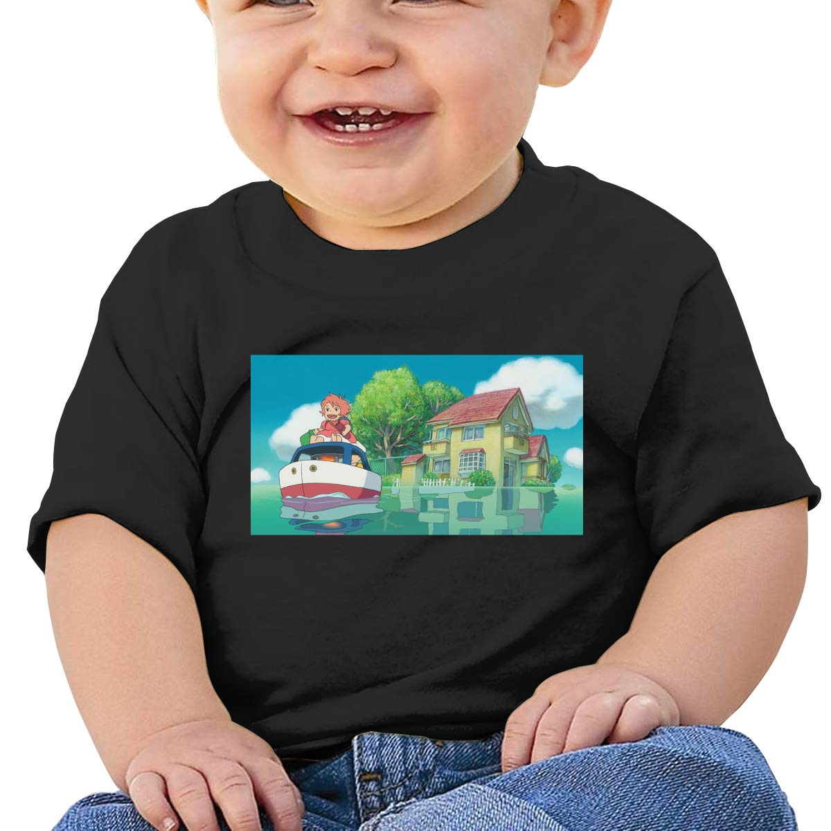 EVE JOHN Ghibi Studio Tee Breathable T Shirt for Toddler Black