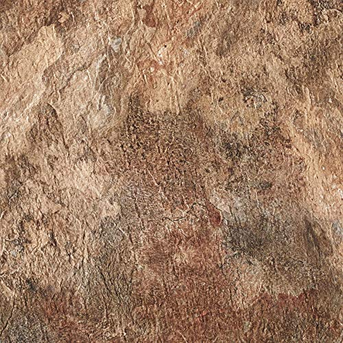 PrimeHome Collection Royale Rustic Copper Slate 18x18 Self Adhesive Vinyl Floor Tile - 10 Tiles/22.5 sq. ft.