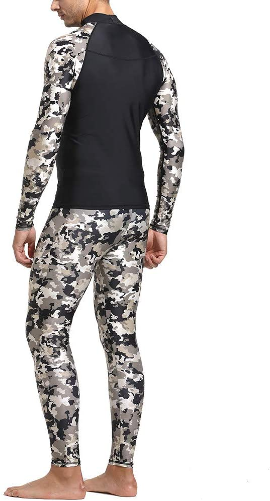 StyleV Long Sleeve Camo Rash Guard UV Protection One Piece Full Diving Suit for Men Keep Warm Swimsuit Wetsuit /& Breathable Sports Dive Skins for Swimming Diving Surfing and Snorkeling