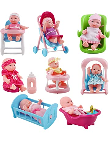 Amazon.es: Muñecas para casas de muñecas: Juguetes y juegos