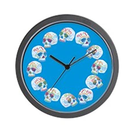 sugar-skull-allovercl. png reloj de pared
