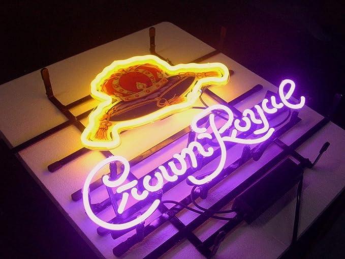 "3D Carved Neon Sign 14/"" For Crown Royal Whiskey Light Lamp Artwork Lamp Decor"