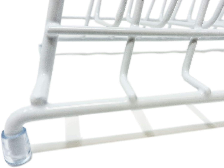 Blanco Rtengtunn Estante Tapa de la Olla Soporte de Hierro Organizador de Cocina para Hornear Organizador Cubierta de la Bandeja Soporte de Bastidor