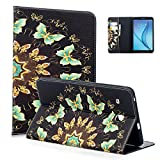 Tab E 8.0'' Case, Samsung Glaxay SM-T377a Case, Dteck Cute Cartoon PU Leather Flip Stand Case with [Silicone Back Cover] for Galaxy Tab E 32GB SM-T378/Tab E 8.0 SM-T375/SM-T377, Butterfly Circle