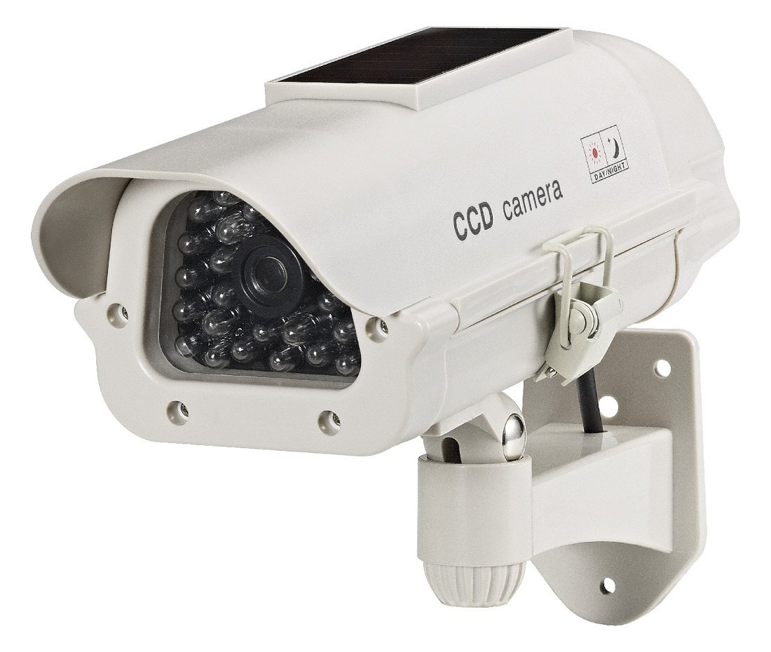 Cop Security 15-CDM14 Dummy Solar Powered Camera with LED Light (Beige) by COP Security