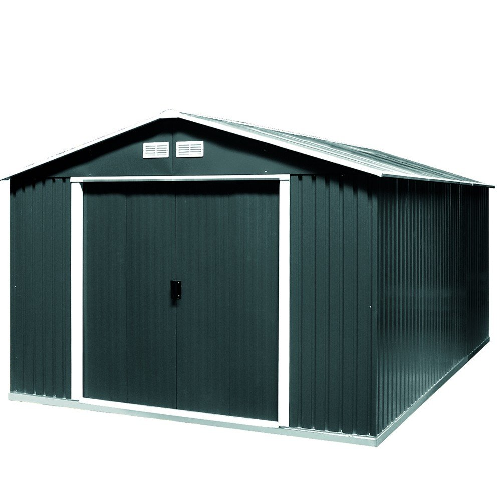 Tepro Gartenhaus / Metallgerätehaus Colossus 10x10 anthrazit