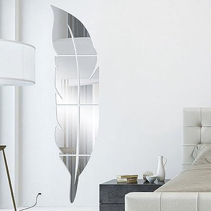 Décoration Murale Autocollant Mural Miroir Murale Stickers Muraux Sticker Décoration  Salle De Bain Chambre Salon Décoratif