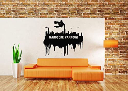 Amazon.com: Vinyl Sticker Parkour Logo Sign Jump Ninja ...