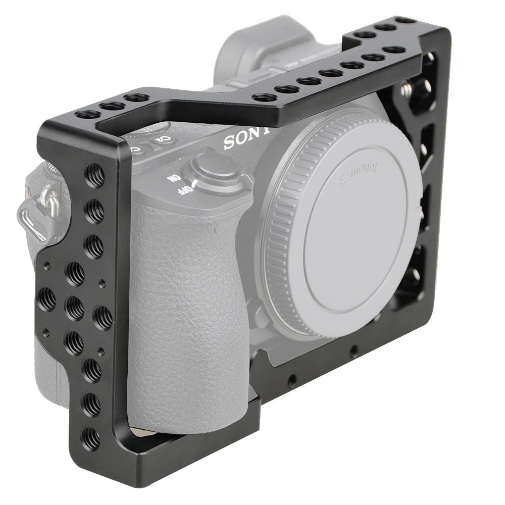camvate aleación de aluminio cámara jaula para Sony A6500 han M6 ...