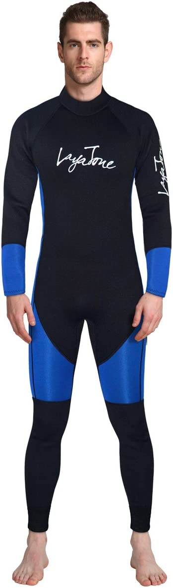 ALEEYA Wetsuit Men Diving Suit 3mm Neoprene Suit Long Sleeves Surfing Suit UV Protect Snorkeling Suit One Piece Kayaking Suit for Scuba Watersport Boating Fitness