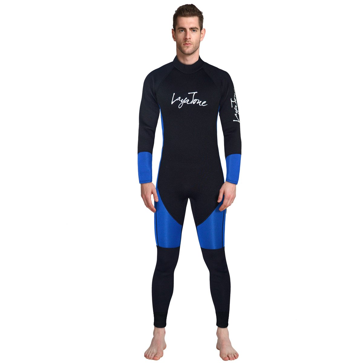 Wetsuit Men Diving Suit 3mm Neoprene Suit Long Sleeves Surfing Suit UV Protect Snorkeling Suit One Piece Kayaking Suit for Scuba Watersport Boating Fitness by ALEEYA