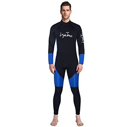 2cc22ebb3f Wetsuit Men - LAYATOEN Premium Neoprene 3mm Diving Suit Full Suit Long  Sleeve Surfing Suit Keep Warm One Piece Swimsuit for Women - Snorkeling  Scuba Diving ...