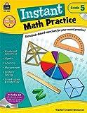 Instant Math Practice Grade 5, Teacher Created Resources Staff, 1420625551