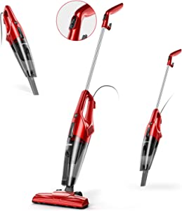 Corded Stick Vacuum, APOSEN 600W Strong Suction Vacuum Cleaner, Lightweight Handled Vacuum with Filter for Hard Floors, Pet Hairs, Car