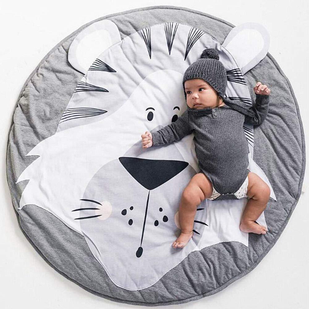 Children Anti-slip Game Mat Cotton Floor Play Mat Blanket Play Environmental Carpet Kids Room Decor 37.4 x 37.4 Ustide Baby Rugs Creeping Crawling Mat Cartoon Sleeping Rugs Brown