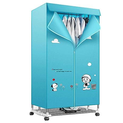 NHLXY Calefacción eléctrica del Aire del hogar Secadora de Ropa Doble Acero Inoxidable Mudo Gran Capacidad