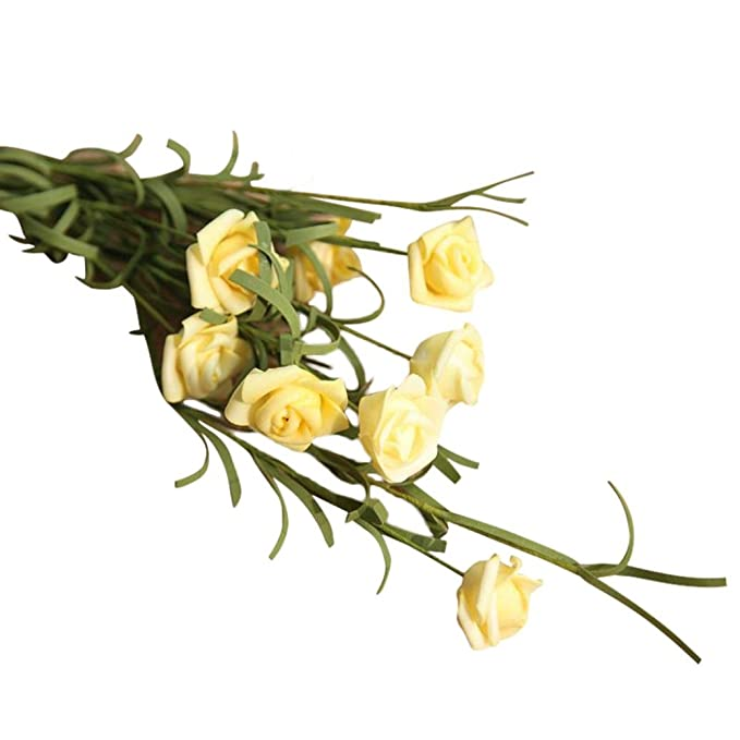 Seidenblumen 10 x Rose// Rosenknospen  hellgelb  Kunstblumen