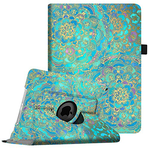 Fintie iPad mini 1/2/3 Case - 360 Degree Rotating Stand Case Cover with Auto Sleep/Wake Feature for Apple iPad mini 1/iPad mini 2/iPad mini 3, Shades of Blue by Fintie