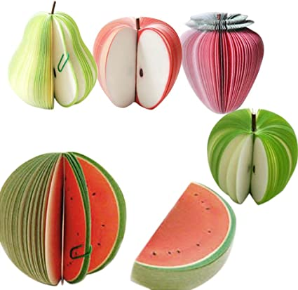 Gosear 5 Modele De Portable Fruits Forme Memo Note Paper Pads Zero Papier Bloc Notes Papier A Lettres Amazon Fr Fournitures De Bureau