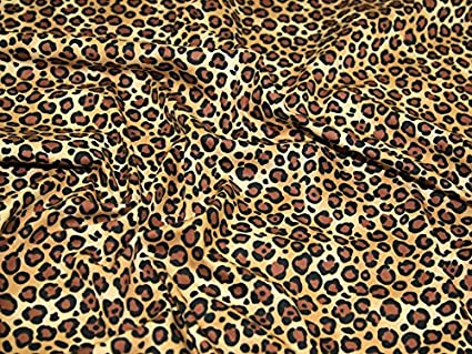 Image Unavailable. Image not available for. Colour  Minerva Crafts Leopard  Animal Print Cotton Poplin Fabric Black   Brown - per metre cfde75624