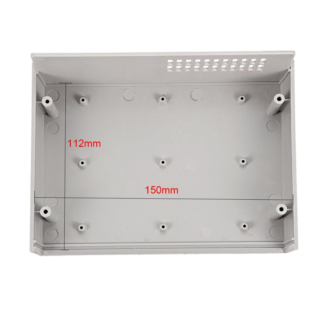 sourcingmap 200 x 155 x 65mm Electronic Plastic DIY Junction Box Enclosure Case Off White