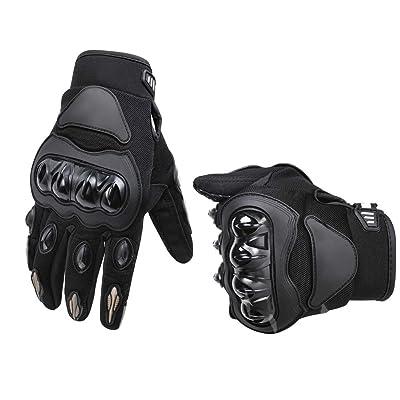 Basics Motorbike Powersports Racing Gloves - Large, Gray: Automotive