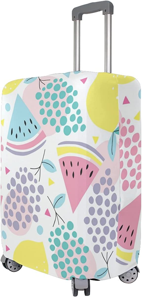 Elastic Travel Luggage Cover Summer Fruits Suitcase Protector for 18-20 Inch Luggage