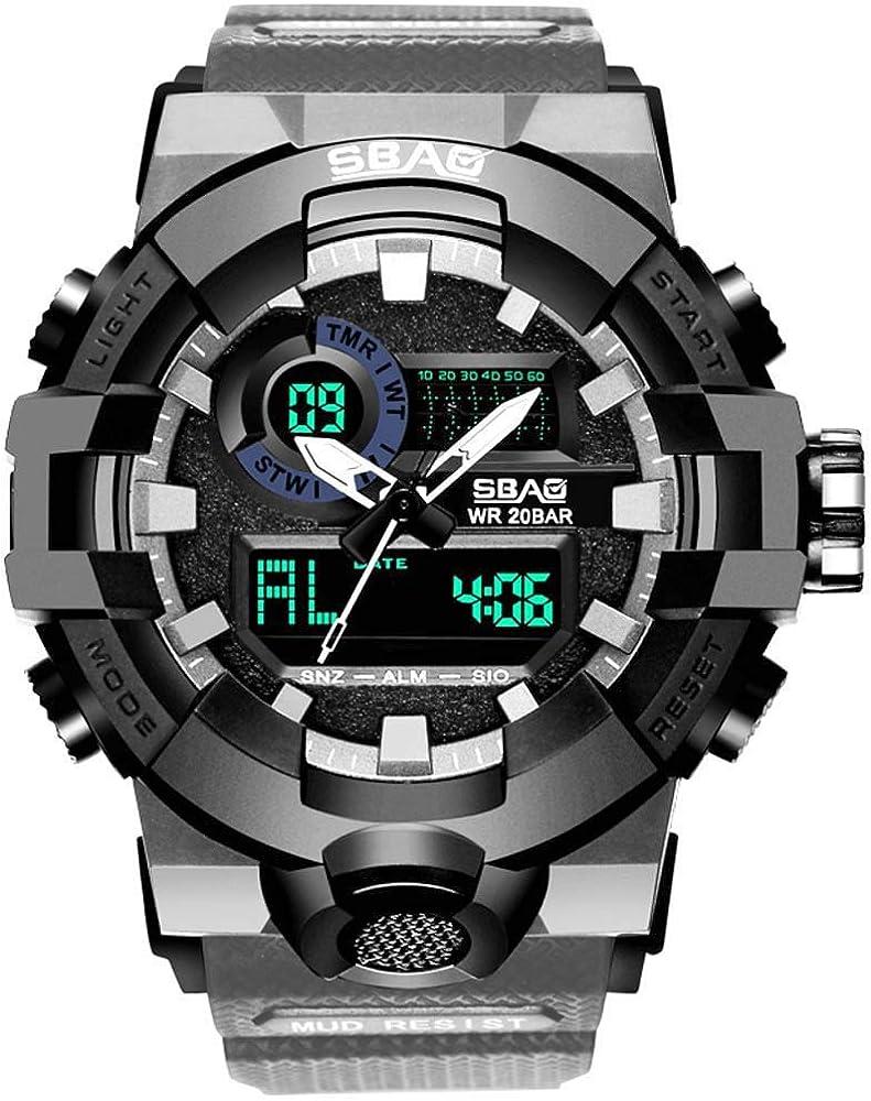DAYLIN Relojes Deportivos Hombre Reloj Digital Despertador Reloj ...