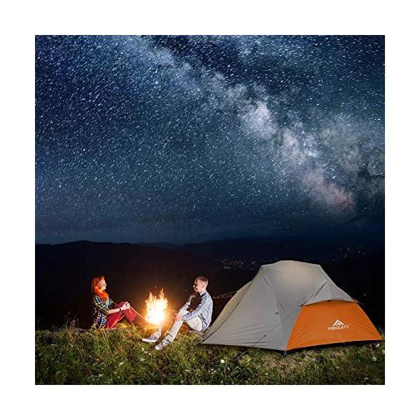 61n9S%2BkC3cL Forceatt Zelt 2-3 Personen Camping Zelt, 2 Doors Wasserdicht & Winddicht 3-4 Saison Ultraleichte Rucksack Zelt für…