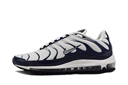 low priced 46b63 7f2c8 NIKE Mens Air Max 97 Wolf Grey/Metallic Silver/Midnight Navy Nylon Running  Shoes 12 D(M) US