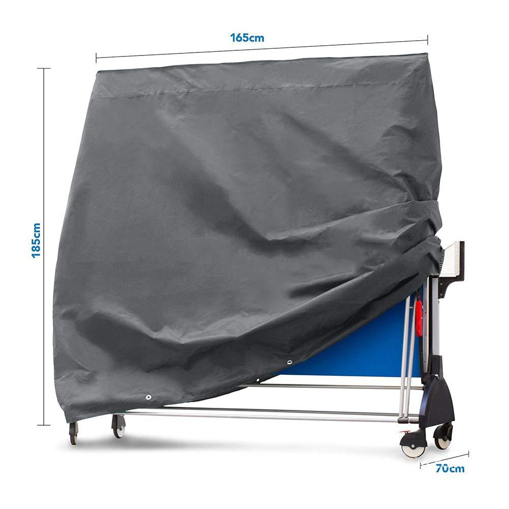 LRHYG Housse De Protection Table De Jardin Housse De Protection Table De Ping Pong Tissu Oxford Rectangle De Plein Air Anti-UV Imperm/éable Noir Color : 210D, Size : 165x70x185cm