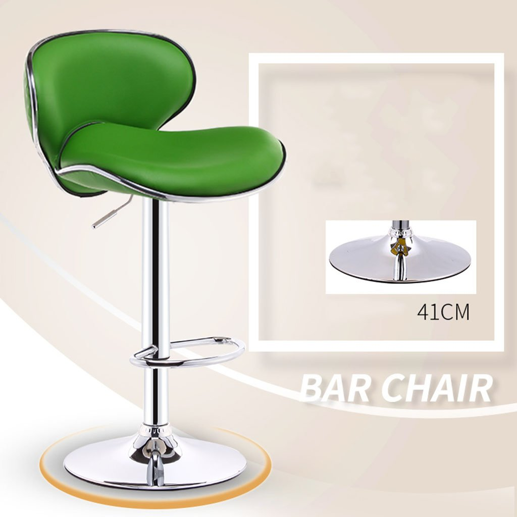7 European Leatherette Exterior + High-Strength Sponge Bar Chair Fashion Bar Stools Gas Lift Adjustable Swive Chair Cash Register at The Front Desk Swivel Chair Leisure Chair Bar Stool High Stool