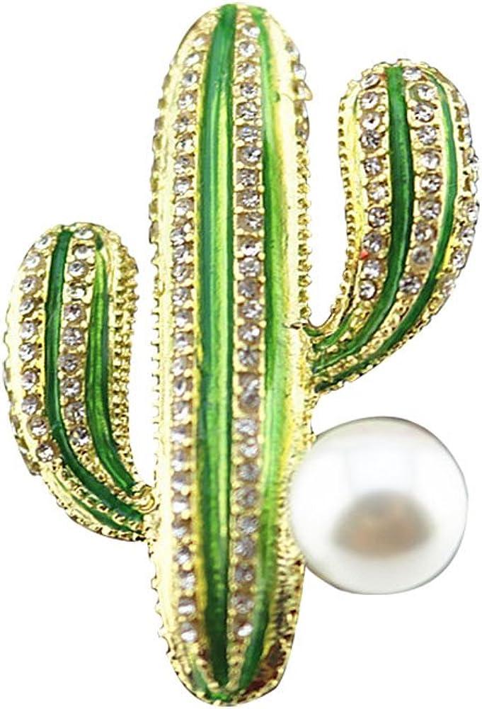 iTemer Broche para Mujer, Diseño de Cactus: Amazon.es: Joyería