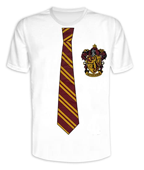 7b9dee9b7 Amazon.com: Merchandise 24/7 Harry Potter T-Shirt Wappen & Krawatte  Gryffindor (XL): Clothing