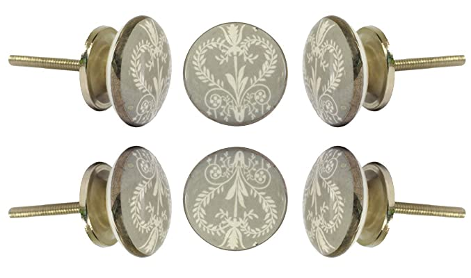 Set of 6 Ceramic Wamer Knob Kitchen Cabinet Cupboard Door Knobs Dressser Wardrobe and Drawer Pull By Trinca-Ferro