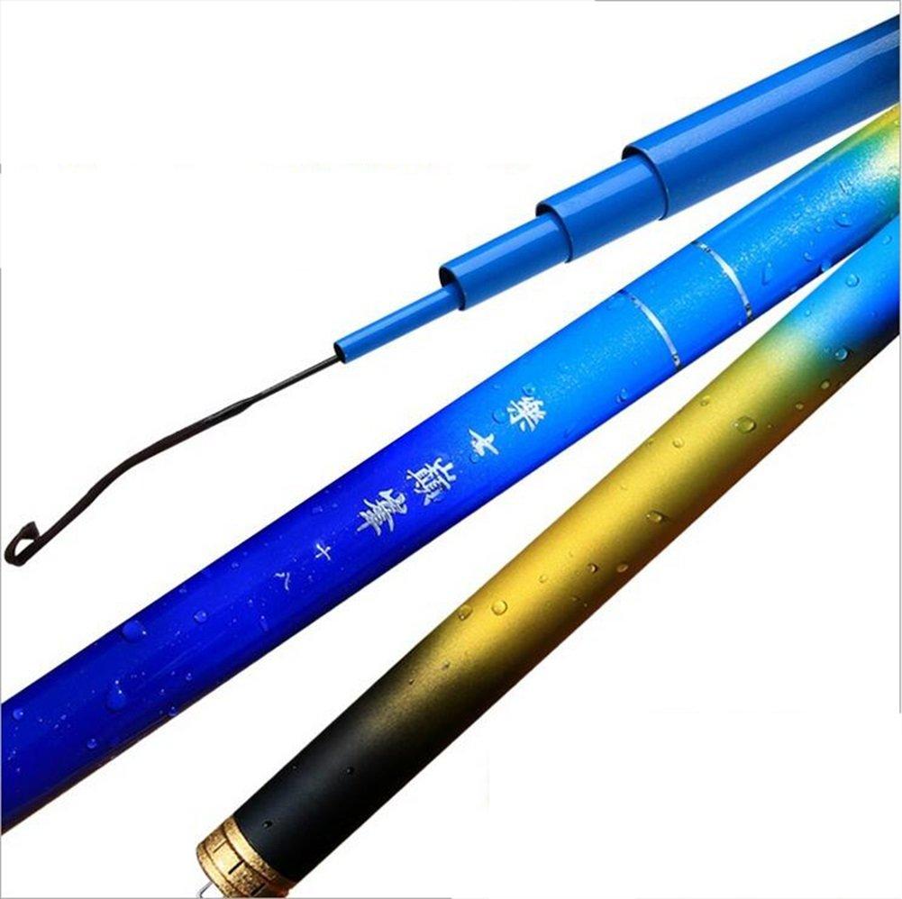 4.5m  NS SN Couleur Bleue Télescopique Canne à pêche Puissance voiturepe Canne à pêche Super Difficile Poids léger 3.6M 4.5M 5.4M 6.3M 7.2M 8.1m 9.0m