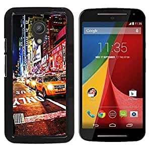 Pulsar Snap-on Series Teléfono Carcasa Funda Case Caso para Motorola G 2ND GEN II , Ciudad de Nueva York cabina Luces Nightlife""