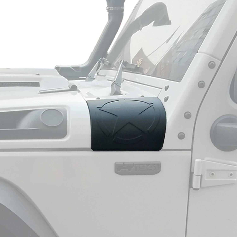 Five Star Cowl Side Body Armor Corner Cover Decals for 2007-2018 Jeep Wranger & Wrangler Unlimited JK Hooke Road