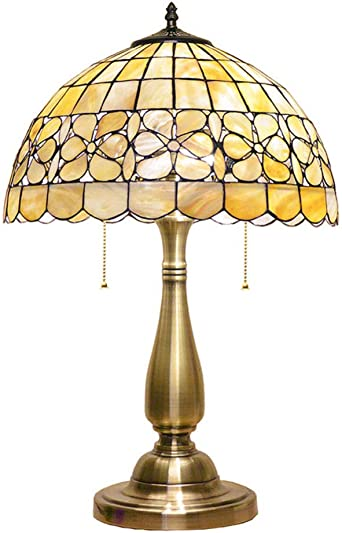 Tiffany Lámpara, Flor de perla Lámpara de mesa Shell del Tiffany ...