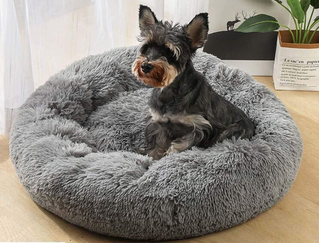 comefohome Cama Perro Casa Sofa Redonda coj/ín Gatos sof/á para Perros Donut Grande Mascotas Calentito Lnvierno Gato Dormido Peque/ña Black 40cm
