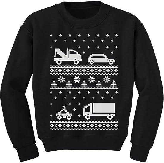 Cars Ugly Christmas Sweater Long Sleeve Kids T-Shirt Xmas Children Clothing