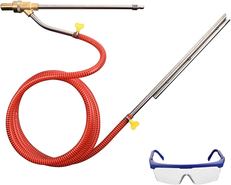 Nass Sandstrahl Aufsatz 5000 PSI Senmubery Hochdruck Reiniger Sandstrahl Kit 1//4 Zoll Schnell Trennkupplung