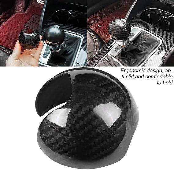 Gorgeri Carbon Fiber Car Gear Shift Knob Cover Trim Shift Cover Trim Accessories for Audi A3 S3 2012-2018