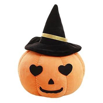 Mini calabaza de peluche almohada juguetes juguete con el corazón ojos  sombrero para regalo de decoración 03616ec432c