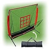BenefitUSA 5'x5' Baseball Softball Practice Net With Strike Zone Target &Carry Bag